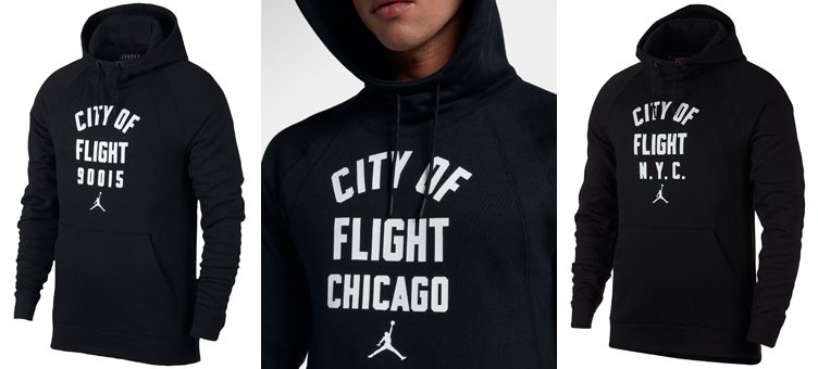 "Jordan Sportswear ""City of Flight"" Hoodies (LA, Chicago and NYC)"