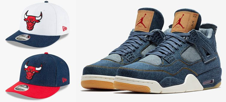 Levi's New Era Chicago Bulls Snapback Caps to Match the Levi's x Air Jordan 4