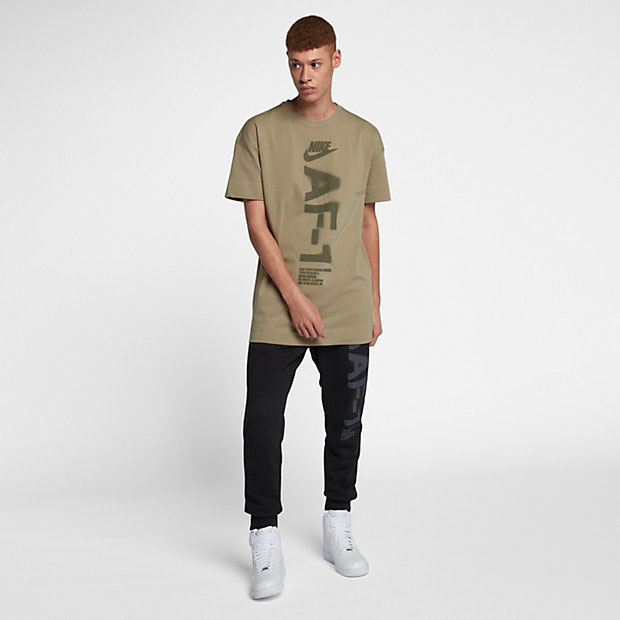 nike-air-force-one-green-tee