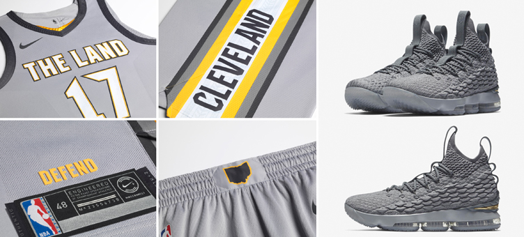 343bd96f8f502 Nike LeBron 15 Guardians City NBA Clothing