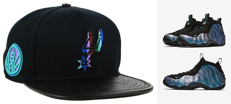 "0aef67dd4ae Nike Air Foamposite One ""Abalone"" x Pro Standard NBA Multi Stripe Snapback  Caps"
