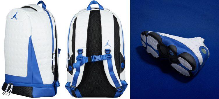 "promo code 78838 57776 Air Jordan 13 ""Hyper Royal"" x Jordan Retro 13 Backpack ""White Hyper Royal"""