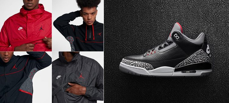 "The Best Jordan Elephant Print Jackets to Match the Air Jordan 3 ""Black Cement"""