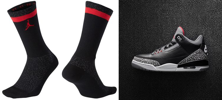 air-jordan-3-black-cement-socks