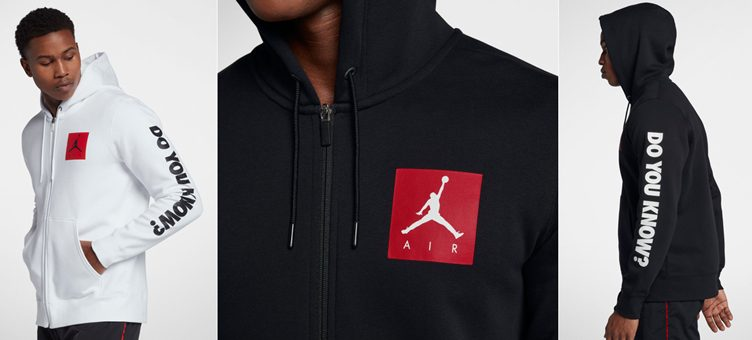 Jordan Retro 3 Flight Fleece Zip Hoodies to Match New Air Jordan 3 Retros