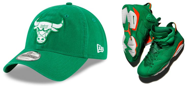 "Chicago Bulls New Era St. Patrick's Day 9TWENTY Cap x Air Jordan 6 ""Gatorade"""