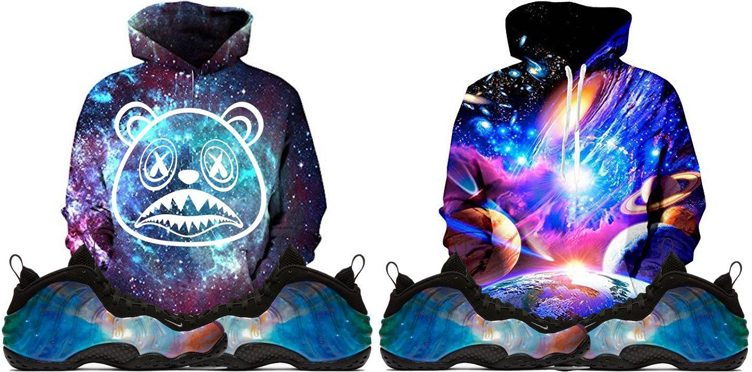 "BAWS Sneaker Hook Hoodies to Match the Nike Air Foamposite One ""Big Bang"""