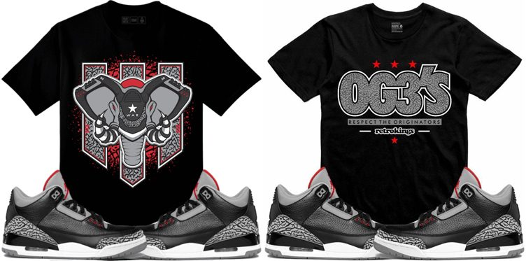 "Sneaker Tees to Match the Air Jordan 3 ""Black Cement"""