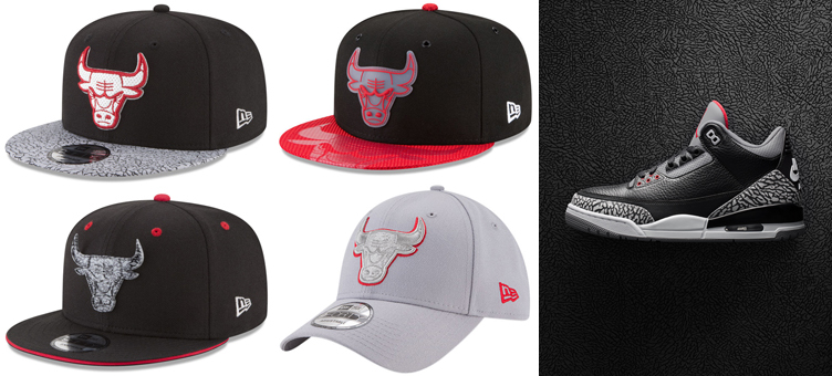1ba34e78 New Era Bulls Black Cement 3 Matching Hats | SneakerFits.com