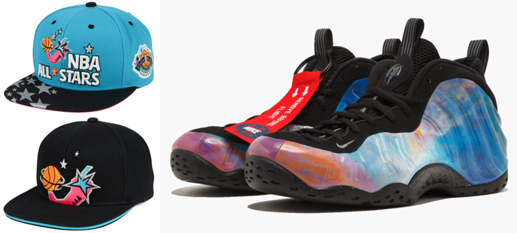 pretty nice a36ef e6d47 Big Bang Foamposites NBA All Star Hats | SneakerFits.com
