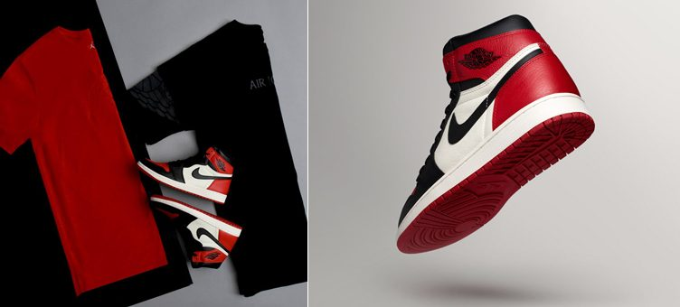 "Air Jordan 1 ""Bred Toe"" + New Jordan Tees to Match Available at Footlocker"