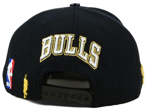becf71dc2236de jordan-1-gold-toe-bulls-black-snapback-hat-. Chicago Bulls Pro Standard ...