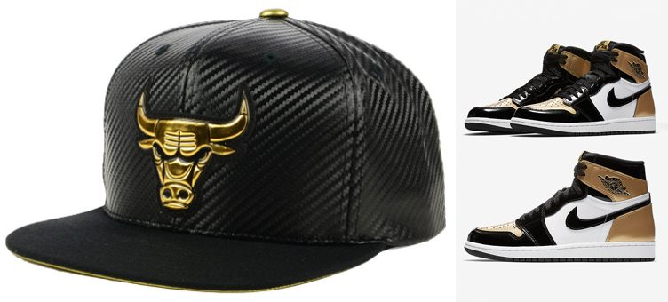 "e96cb20e1eb3 Air Jordan 1 ""Gold Toe"" x Chicago Bulls Mitchell   Ness Body Count Snapback  Cap"