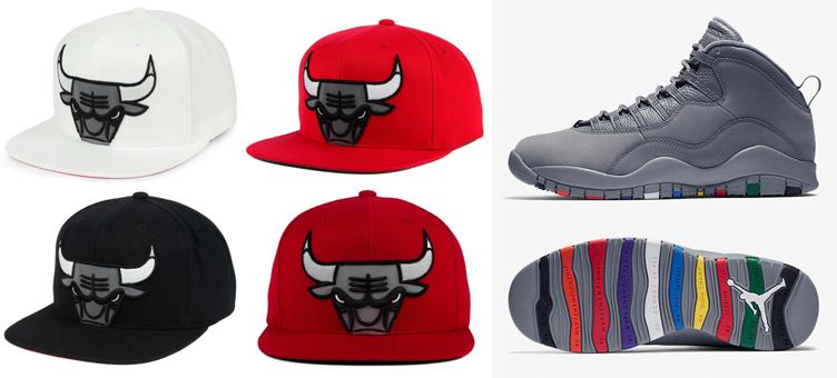 jordan-10-cool-grey-bulls-matching-hats