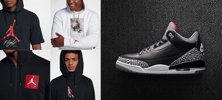 "The Best Jordan Brand Hoodies to Match the Air Jordan 3 ""Black Cement"""