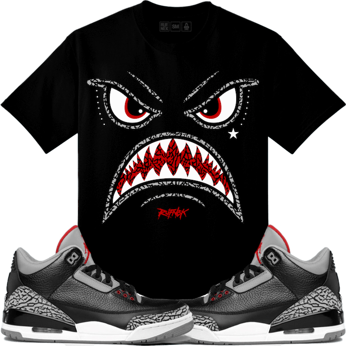 jordan-3-black-cement-sneaker-match-tee-2