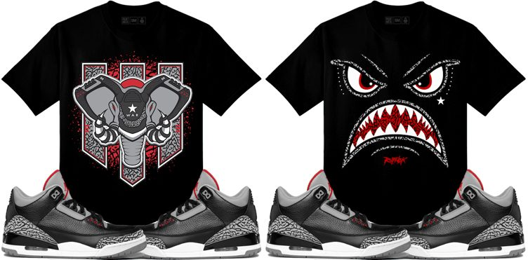 jordan-3-black-cement-sneaker-tees