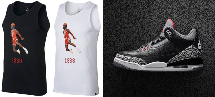 "Air Jordan 3 ""Black Cement"" x Jordan Sportswear 1988 Dunk Tank Tops"