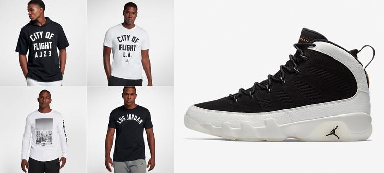 promo code 9acac 4632f Air Jordan 9 LA City of Flight Shirts | SneakerFits.com