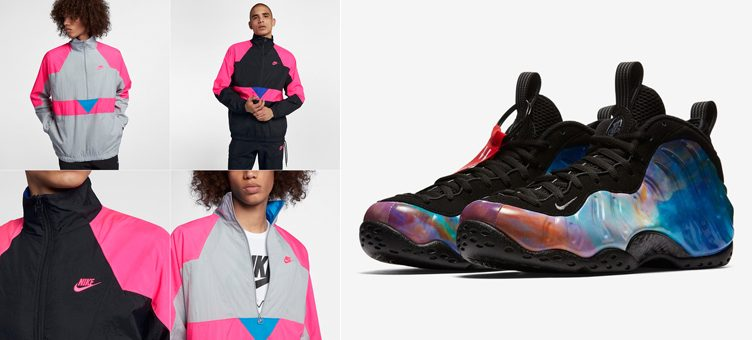 "Nike Air Foamposite One ""Big Bang"" x Nike Sportswear Woven Half-Zip Jacket"