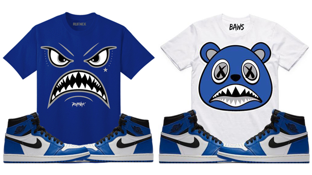 "aa65627ec54d If you re searching for a new sneaker tee or two to match the Air Jordan 1  ""Game Royal"" shoes"