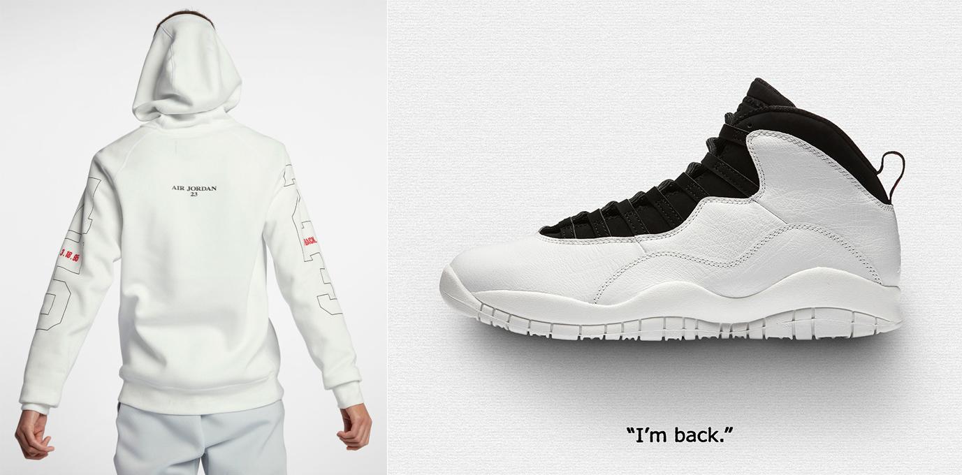 newest 147a1 edb08 Air Jordan 10 Im Back Pullover Hoodie | SneakerFits.com