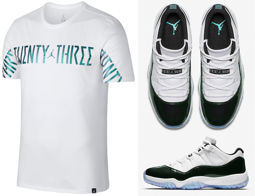 air-jordan-11-low-easter-emerald-iridescent-shirt