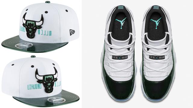 air-jordan-11-low-emerald-easter-iridescent-bulls-cap
