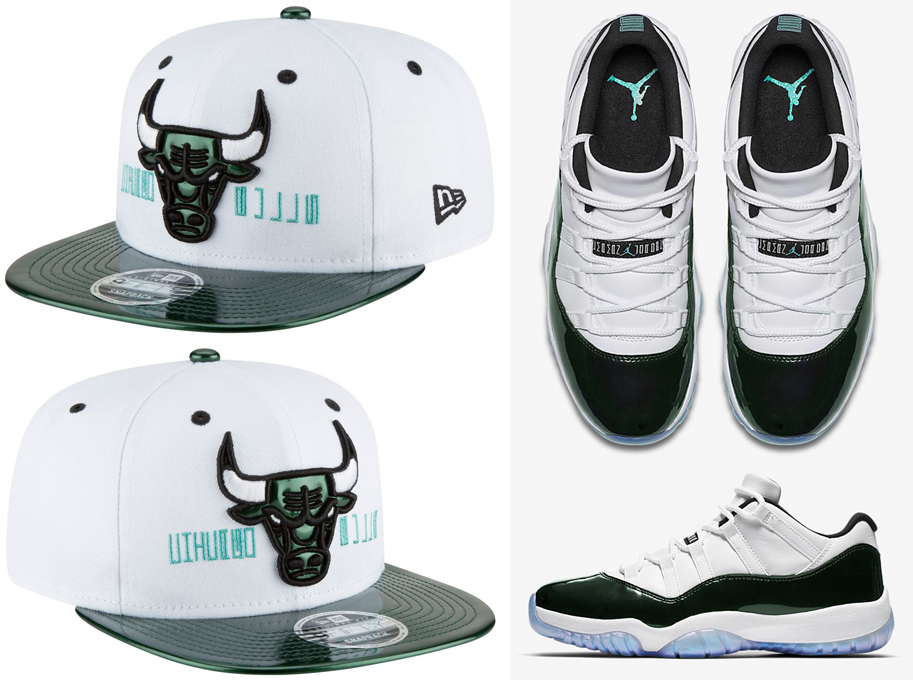 air-jordan-11-low-emerald-easter-iridescent-bulls-hat
