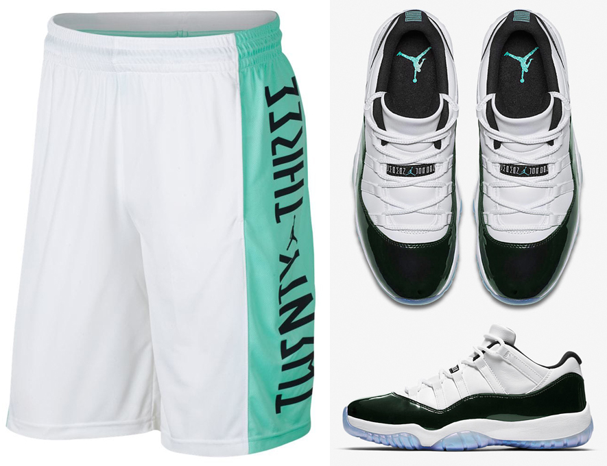air-jordan-11-low-emerald-easter-iridescent-shorts