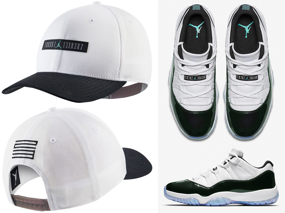 Air Jordan 11 Low Iridescent Easter Emerald Hat