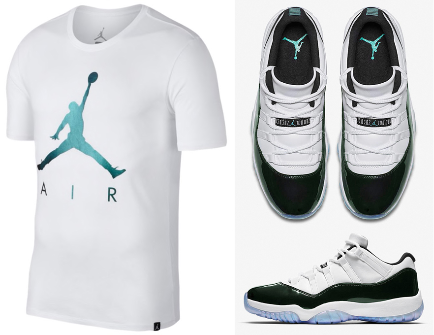 air-jordan-11-low-iridescent-emerald-t-shirt-match