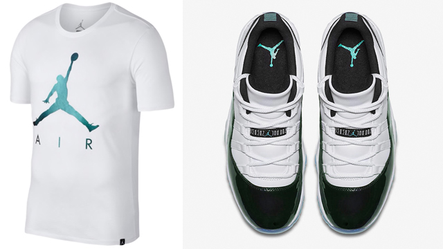 air-jordan-11-low-iridescent-emerald-tee