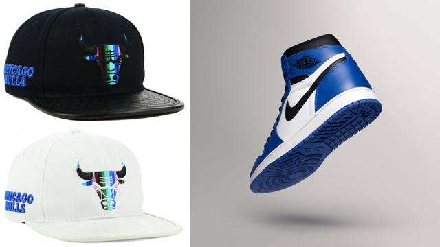 "eb88085f1e3d Air Jordan 1 Retro High OG ""Game Royal"" x Chicago Bulls Pro Standard Multi  Stripe Snapback Cap"