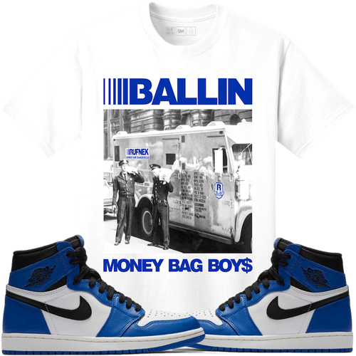 Jordan 1 game royal sneaker match tees for Jordan royal 1 shirt