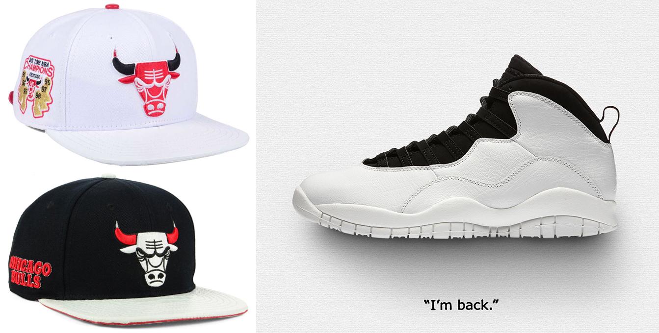 4c3892e218a ... Chicago Bulls Pro Standard Snapback and Strapback Caps.  jordan-10-im-back-bulls-hat