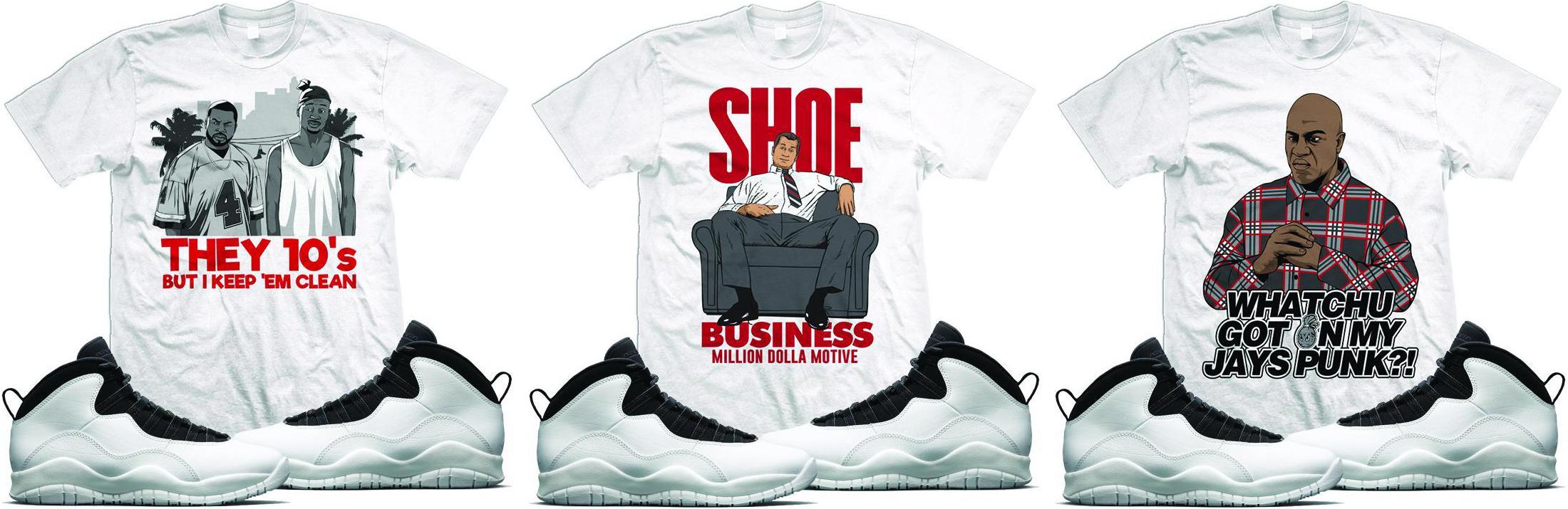 b9987b5bef1 jordan-10-im-back-sneaker-tees. Matching up with the Air ...
