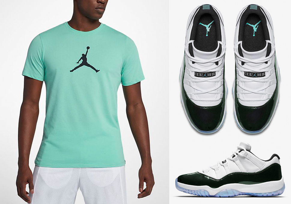 jordan-11-easter-emerald-shirt-match