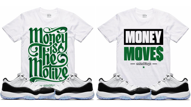 "5bb9a819db6473 Retro Kings has a few new sneaker tees ready to match the Emerald Air  Jordan 11 Low ""Iridescent"" shoes in time for Easter with these four  different styles ..."