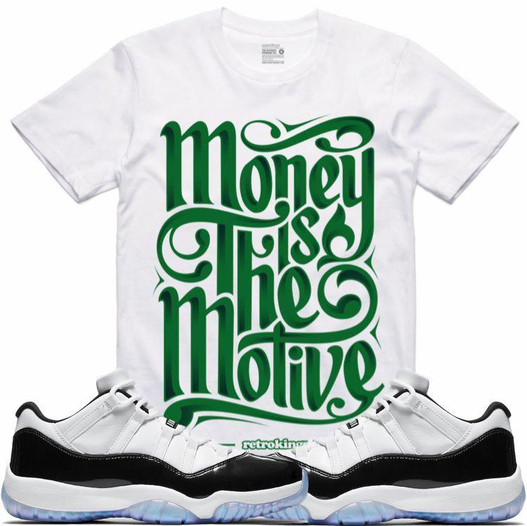 9f72734638892d jordan-11-low-emerald-easter-iridescent-sneaker-tee-. Retro Kings Motive T- Shirt