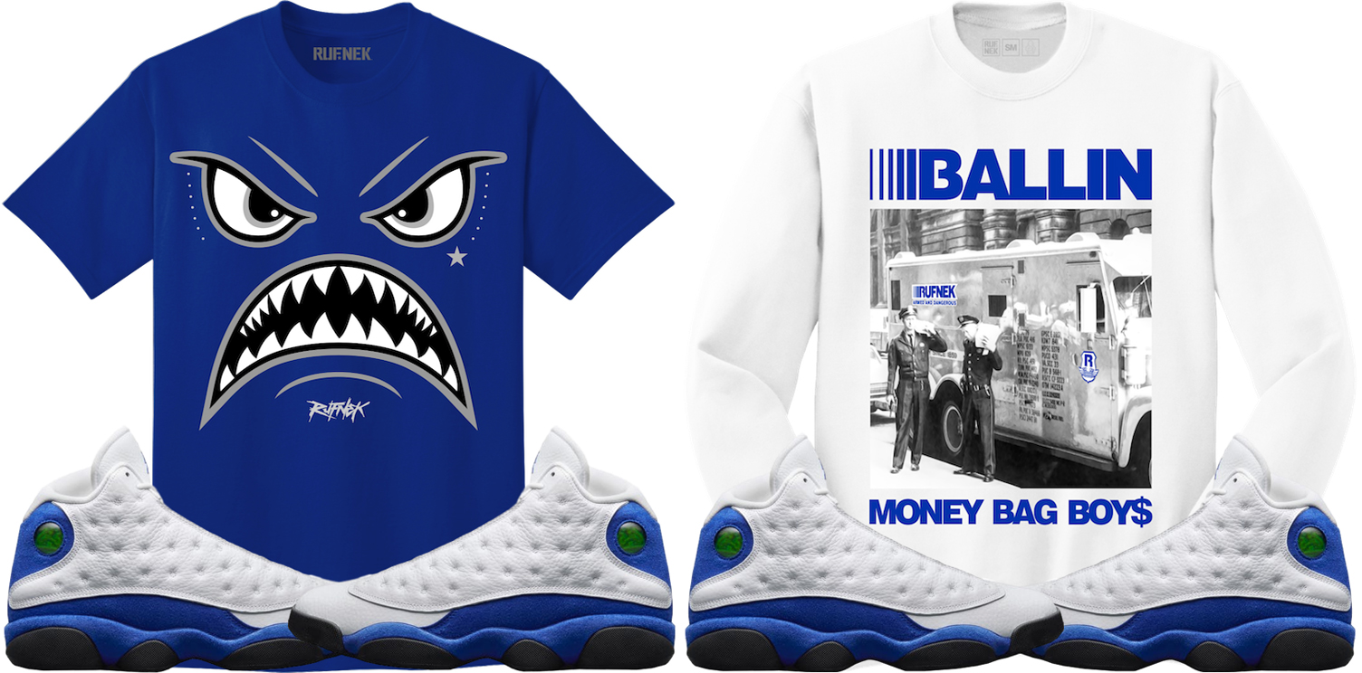 jordan-13-hyper-royal-sneaker-match-shirts