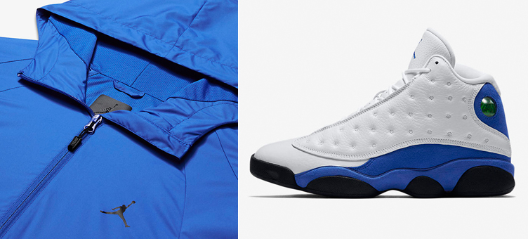 25679a1d205 Hyper Royal Jordan 13 Windbreaker Jacket | SneakerFits.com