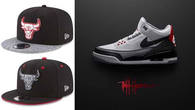 f8a545c0e02f Jordan 3 Tinker New Era Bulls Hats to Match