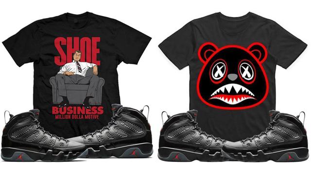 "4e86a536356 Sneaker Tees to Match the Air Jordan 9 ""Bred"""
