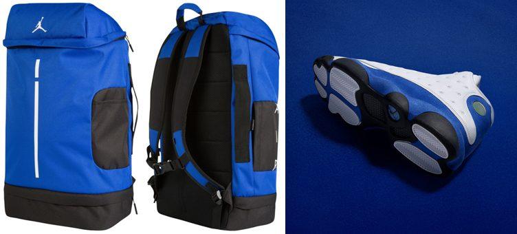 "75cfef45cf6779 Air Jordan 13 ""Hyper Royal"" x Jordan ""Hyper Royal"" Velocity Backpack"