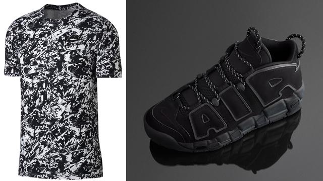 "more photos c840b 0c0cf Nike Air More Uptempo T-Shirts to Match the Nike Air More Uptempo ""Triple  Black Incognito"""