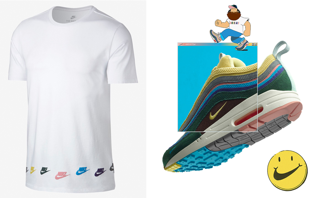 "b260c5530f Nike Sportswear T-Shirts to Match the Sean Wotherspoon x Nike Air Max 1/97  ""Collector's Dream"""