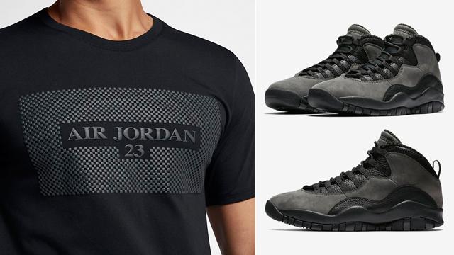 hot sale online 0fde7 e4ac8 Air Jordan 10 Shadow T Shirt Match | SneakerFits.com