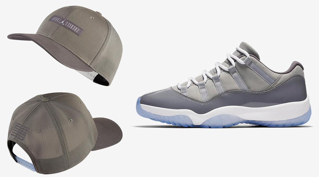 Air Jordan 11 Low Cool Grey Hat