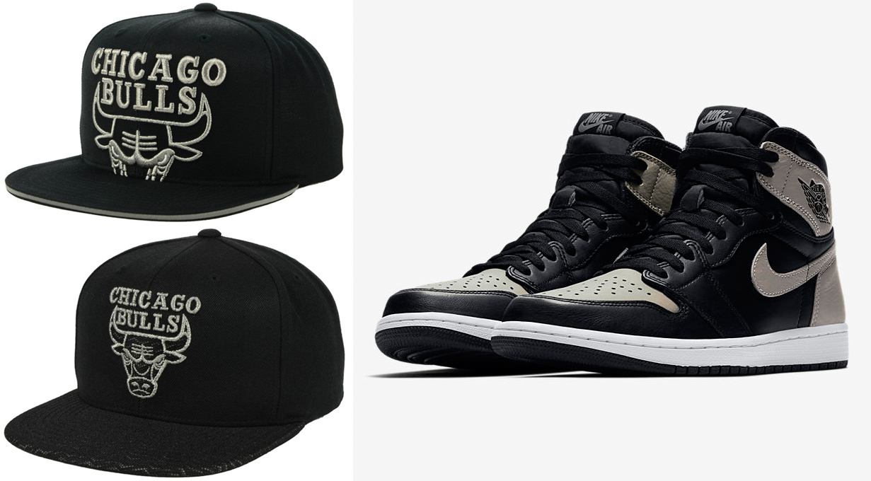 jordan-1-shadow-bulls-hat-match